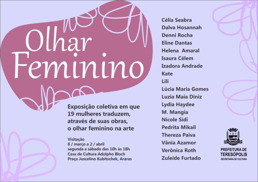 Exposição Olhar Feminino na Casa de Cultura
