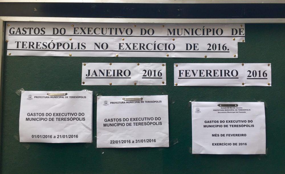 População tem acesso às contas da Prefeitura de Teresópolis