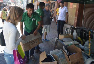 Moradores aderem à 2ª Coleta de Lixo Eletrônico em Teresópolis, ação promovida pelo Governo Municipal em parceria com a E-Lixo Zero