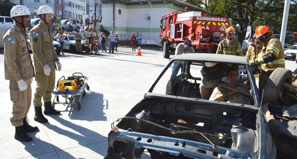 Semana Municipal de Trânsito tem palestras e simulação de socorro a vítima de acidente