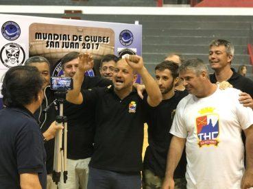 Atletas do THC vibram na final do Mundial, na Argentina