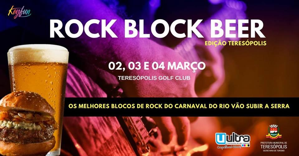 Rock Block Beer começa nesta sexta, 02/03, e vai até domingo, 04/03