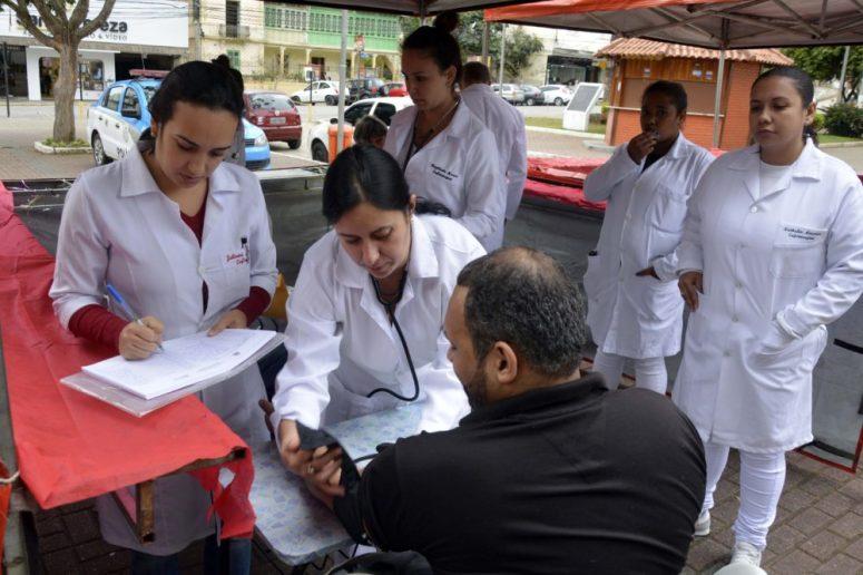 Secretaria de Saúde realizou aferição de pressão arterial