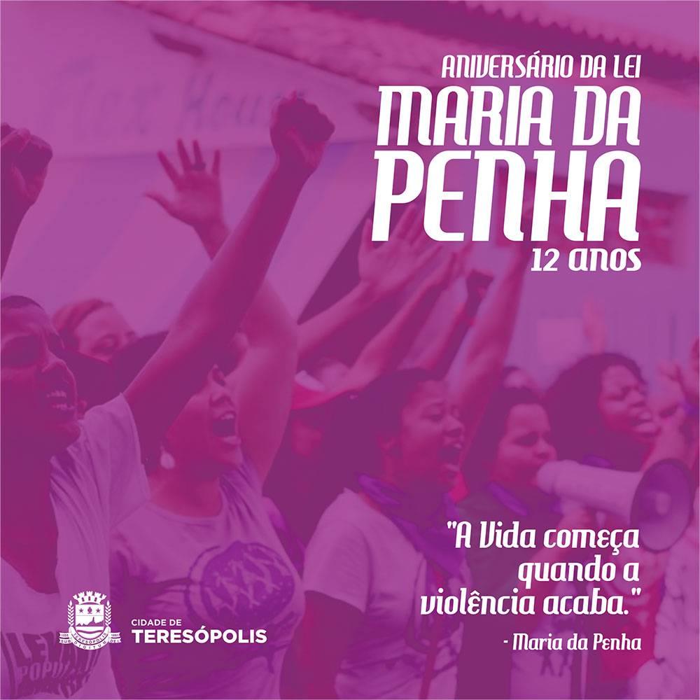 LEI MARIA DA PENHA COMPLETA 12 ANOS