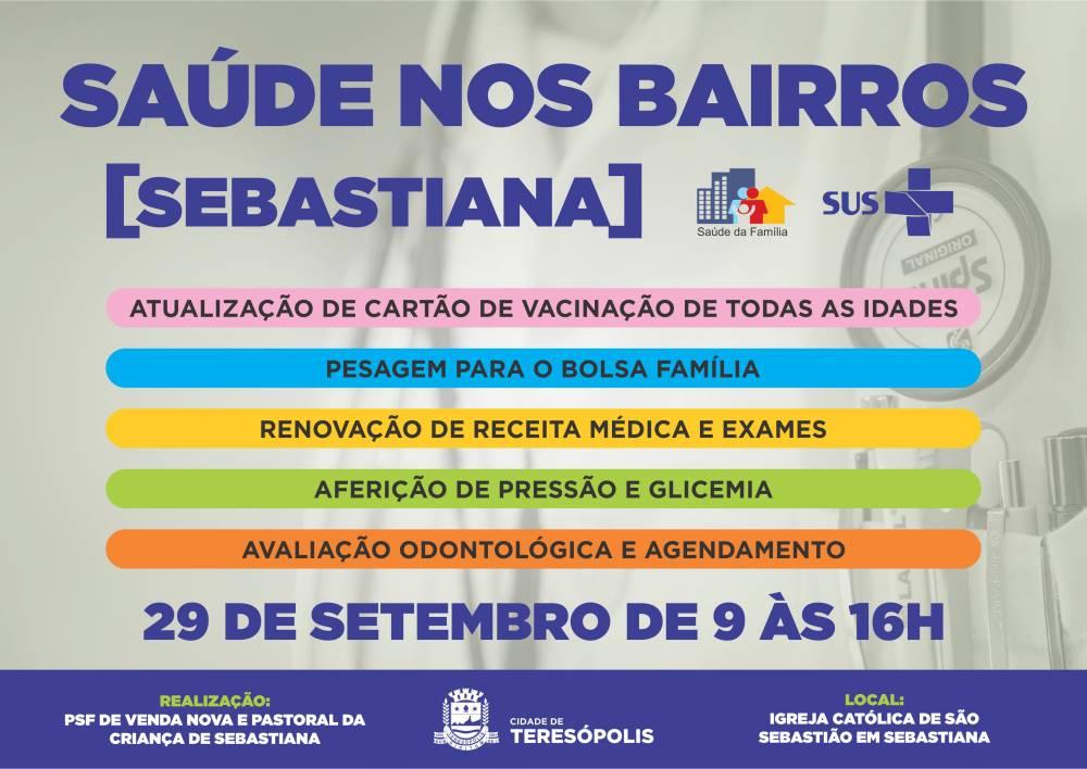 'SAÚDE NOS BAIRROS' LEVA VÁRIOS SERVIÇOS A SEBASTIANA, NO 3º DISTRITO