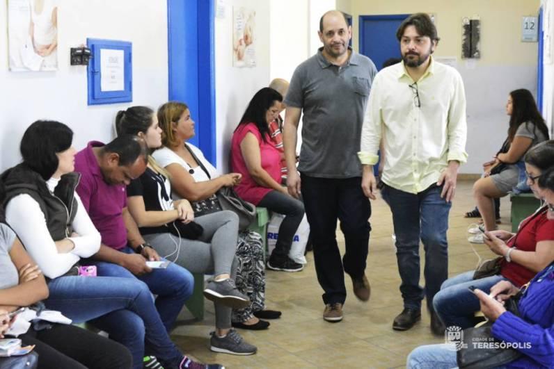 Vice-prefeito Dr. Ari e subsec. Antônio Vasconcellos supervisionam mutirão de consultas e exames no Cemusa