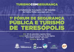 1º FÓRUM DE SEGURANÇA PÚBLICA E TURISMO DE TERESÓPOLIS ACONTECE NESTA QUINTA (20) NO HOTEL ALPINA
