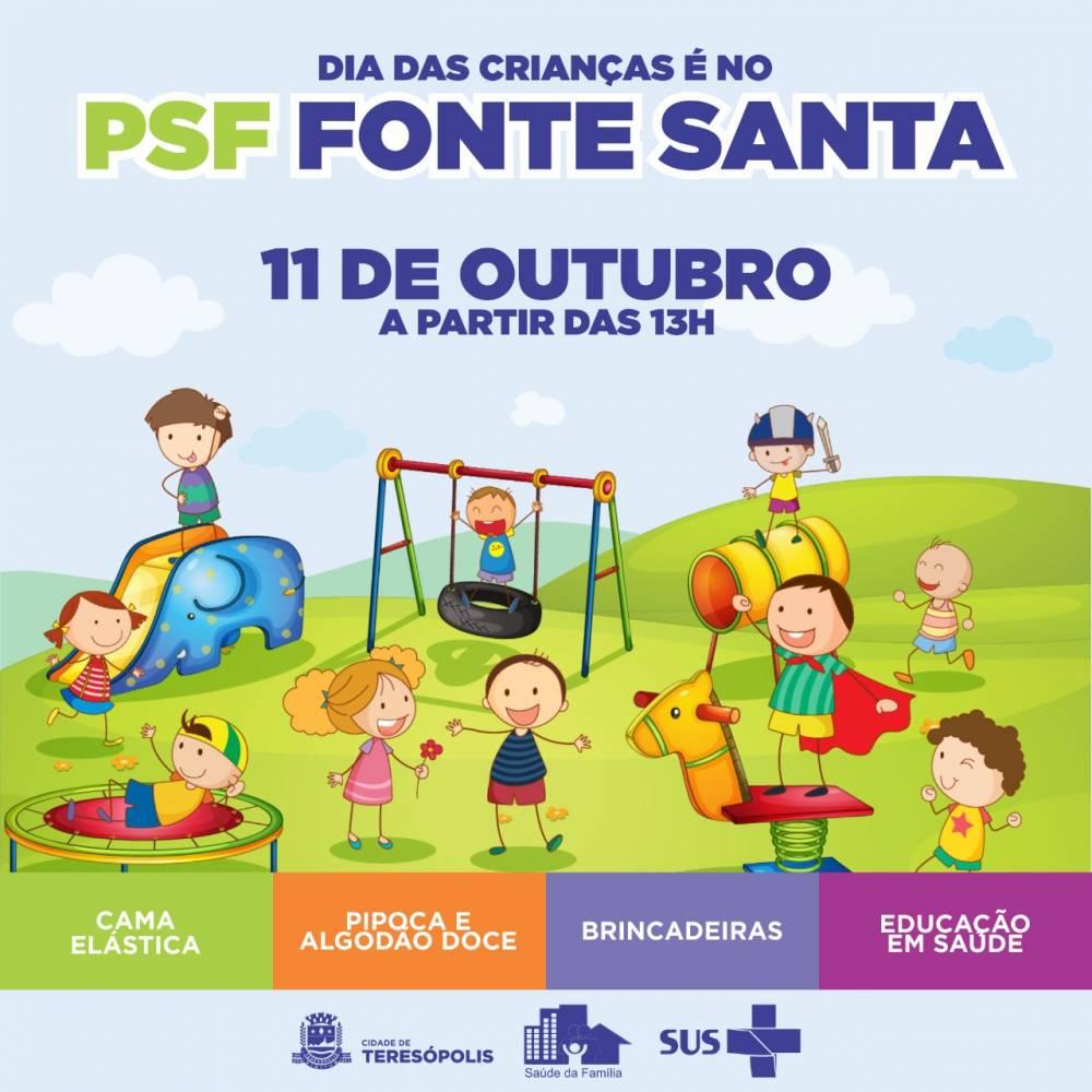 DIA DAS CRIANÇAS SERÁ COMEMORADO NO PSF DA FONTE SANTA NO PRÓXIMO DIA 11
