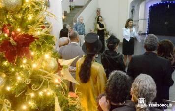 Secretária de Cultura Cléo Jordão agradece a presença do público e aos colaboradores do evento