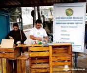 Voluntários da Rede Brasilidade Solidária, uma das organizações parceiras do encontro ambiental