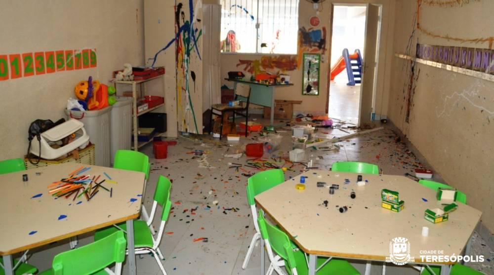 Prefeitura vai recuperar danos do ato de vandalismo na Creche Oscar Lobato