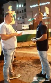 Subsecretário de Eventos Fernando Rocha e o coordenador de produção, Erick Lemos