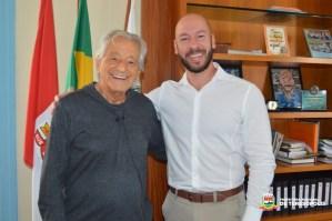 Prefeito Vinicius Claussen concede entrevista a Fernando Gabeira, da Globo News