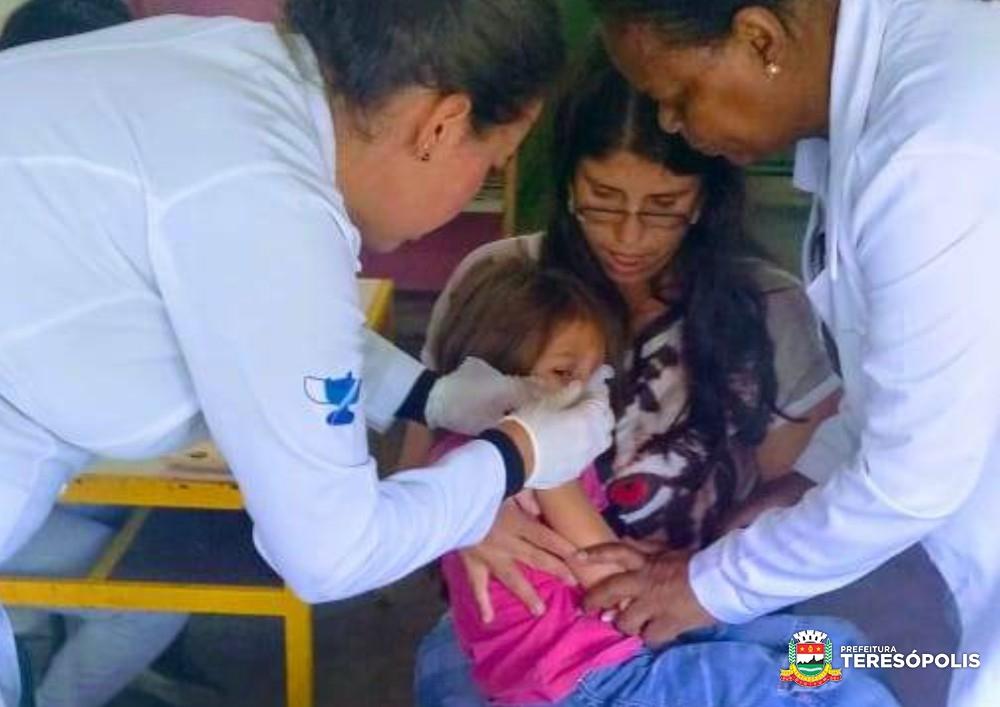 Secretaria de Saúde de Teresópolis atinge 76,81% da meta de imunização contra a gripe