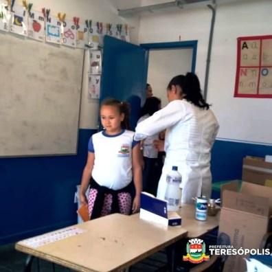 Vacinação contra gripe na Escola Municipal Tiago Pacheco de Medeiros