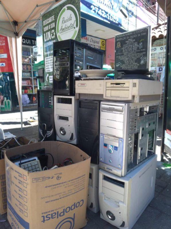 'Recicla Terê recolhe 1,3 tonelada de materiais eletrônicos sem uso ou quebrados