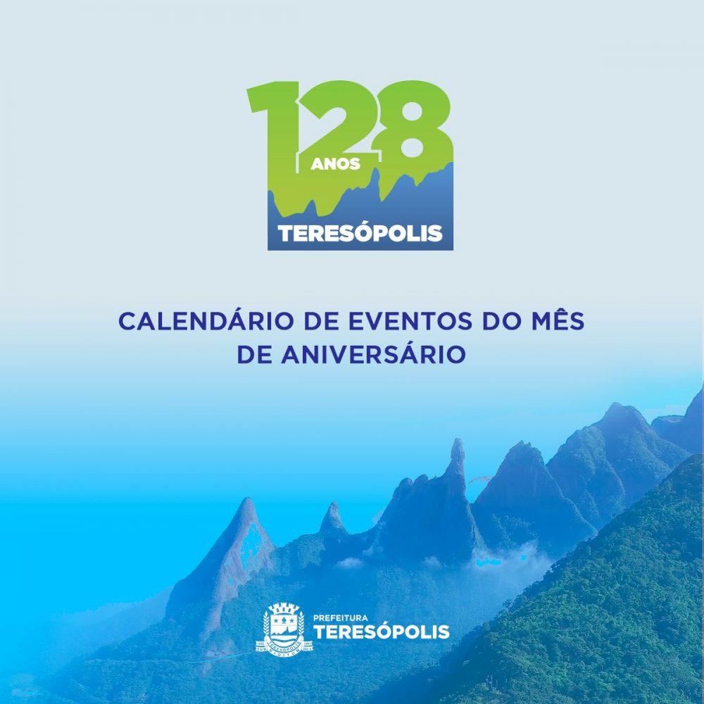 Prefeitura divulga calendário de eventos dos 128 anos de Teresópolis