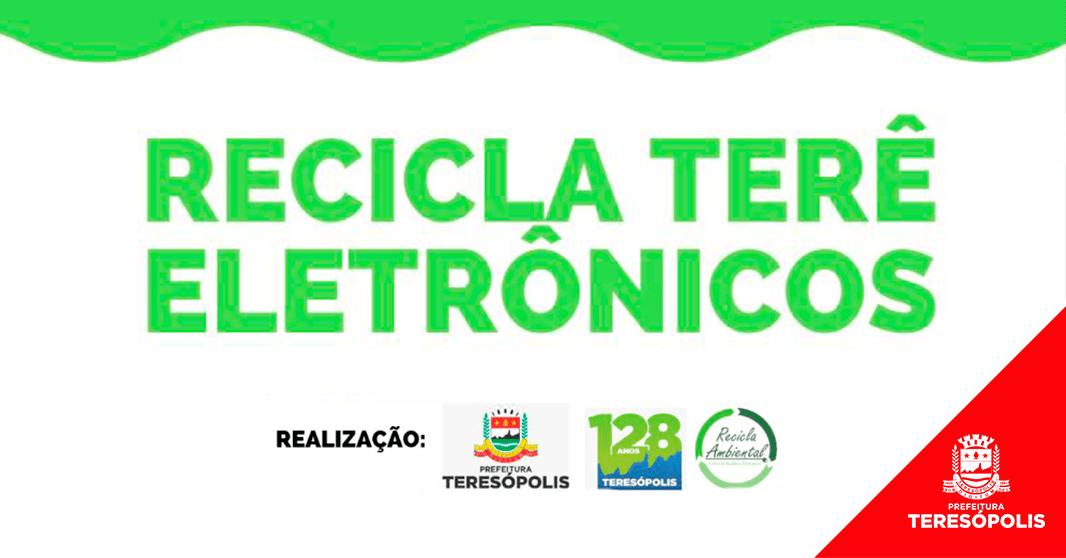 'Recicla Terê' recolhe 1,3 tonelada de materiais eletrônicos sem uso ou quebrados