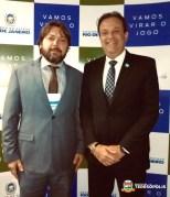 Vice-prefeito Ari Boulanger com o secretário estadual André Moura