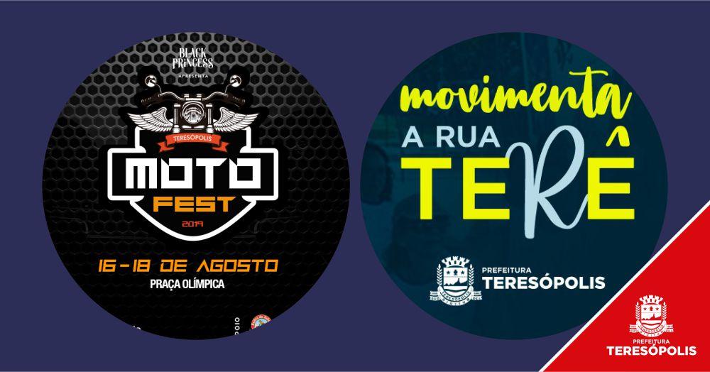 'Moto Fest 2019' e 'Movimenta a Rua Terê' agitam o final de semana em Teresópolis