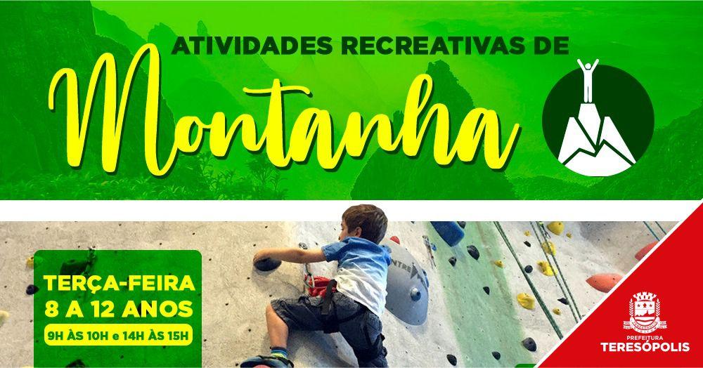 Atividades recreativas de montanha gratuitas para crianças e adolescentes em Teresópolis