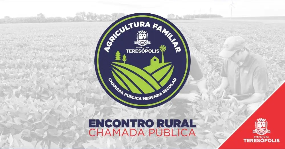 Dia 10 tem Encontro Rural e Chamada Pública para compra de produtos da agricultura familiar para a merenda escolar