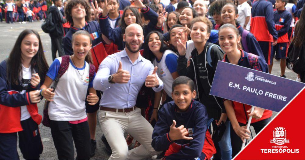 Solenidade festiva abre edição 2019 dos Jogos Estudantis de Teresópolis, no Pedrão
