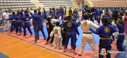 Aulão de jiu-jitsu abre solenidade de inauguração do Espaço Memória Olímpica, no Ginásio Pedrão