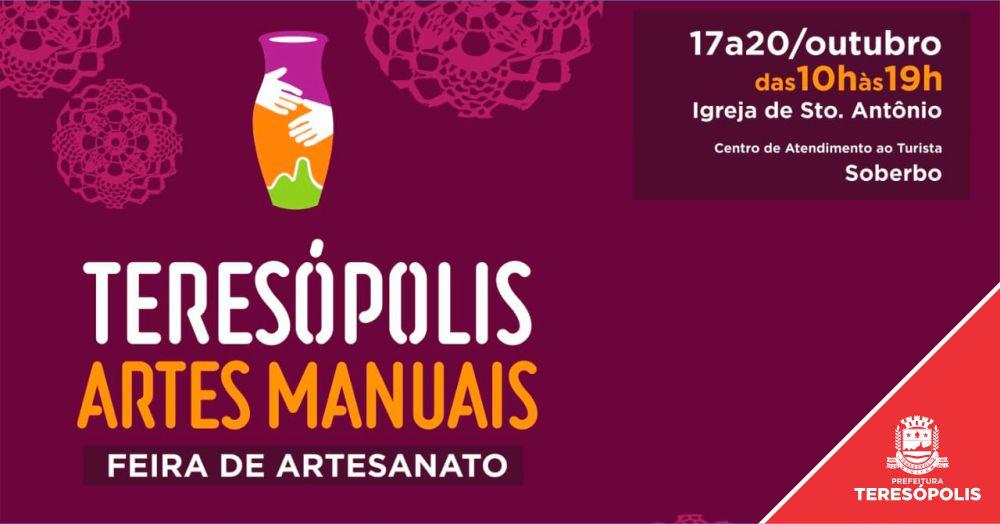 """Feira de artesanato """"Teresópolis Artes Manuais"""" começa nesta quinta, 17"""