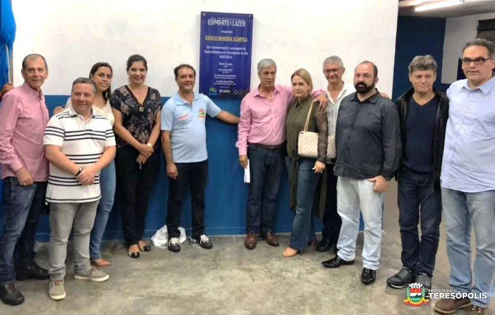 Espaço Memória Olímpica é inaugurado pelo prefeito Mario Tricano no Ginásio Pedrão