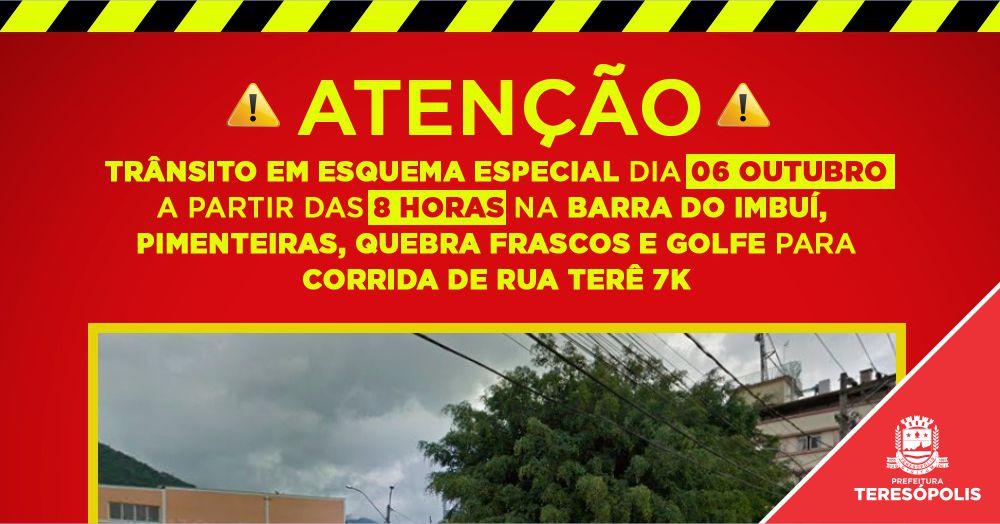 Trânsito na Barra do Imbuí, Pimenteiras, Quebra Frascos e Golfe tem esquema especial neste domingo para corrida de rua Terê 7K