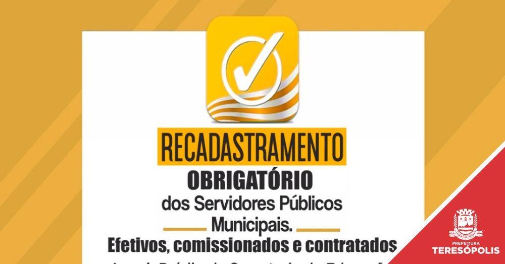 Recadastramento dos servidores municipais começa na próxima segunda, 9