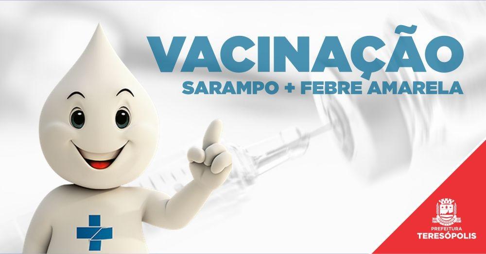 Teresópolis inicia campanha de intensificação da vacinação contra o sarampo e dose de reforço contra a febre amarela