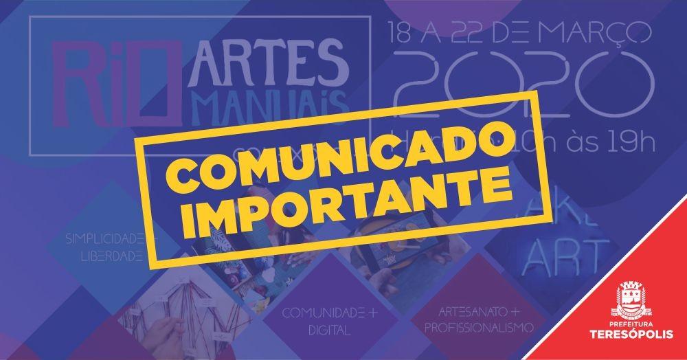 Organizadores suspendem a Feira 'Rio Artes Manuais' e Secretaria de Cultura cancela inscrição de artesãos
