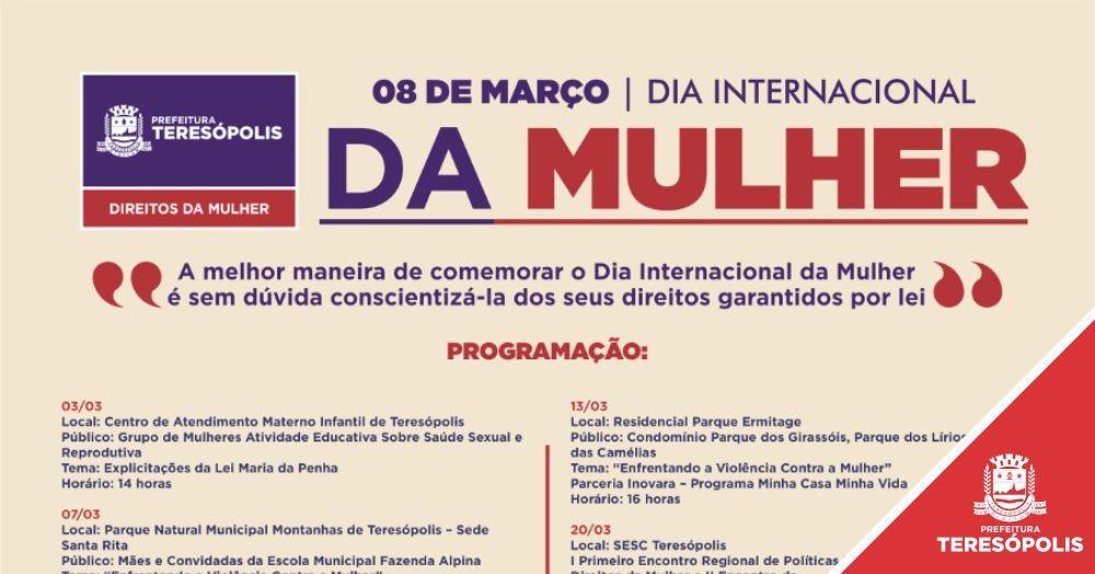 Encontros regionais, ação social e várias atividades marcam o Mês da Mulher em Teresópolis