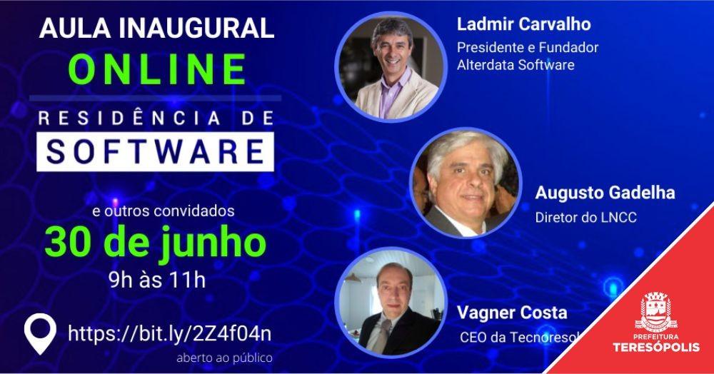 Parceria Serratec, Firjan/SENAI e Prefeitura de Teresópolis: Aula inaugural online do Programa de Residência de Software será no dia 30