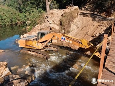 Obra de reconstrução da Ponte do Madruga