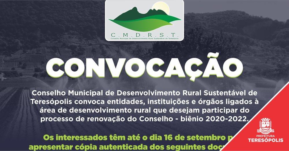 Conselho Municipal de Desenvolvimento Rural Sustentável de Teresópolis convoca entidades para renovação