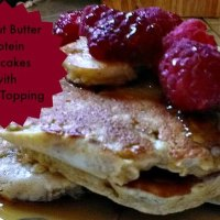 Peanut Butter Protein Pancakes With Berry Topping