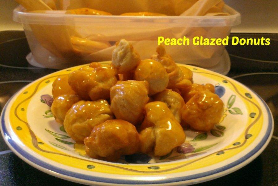 peach glazed donuts recipe