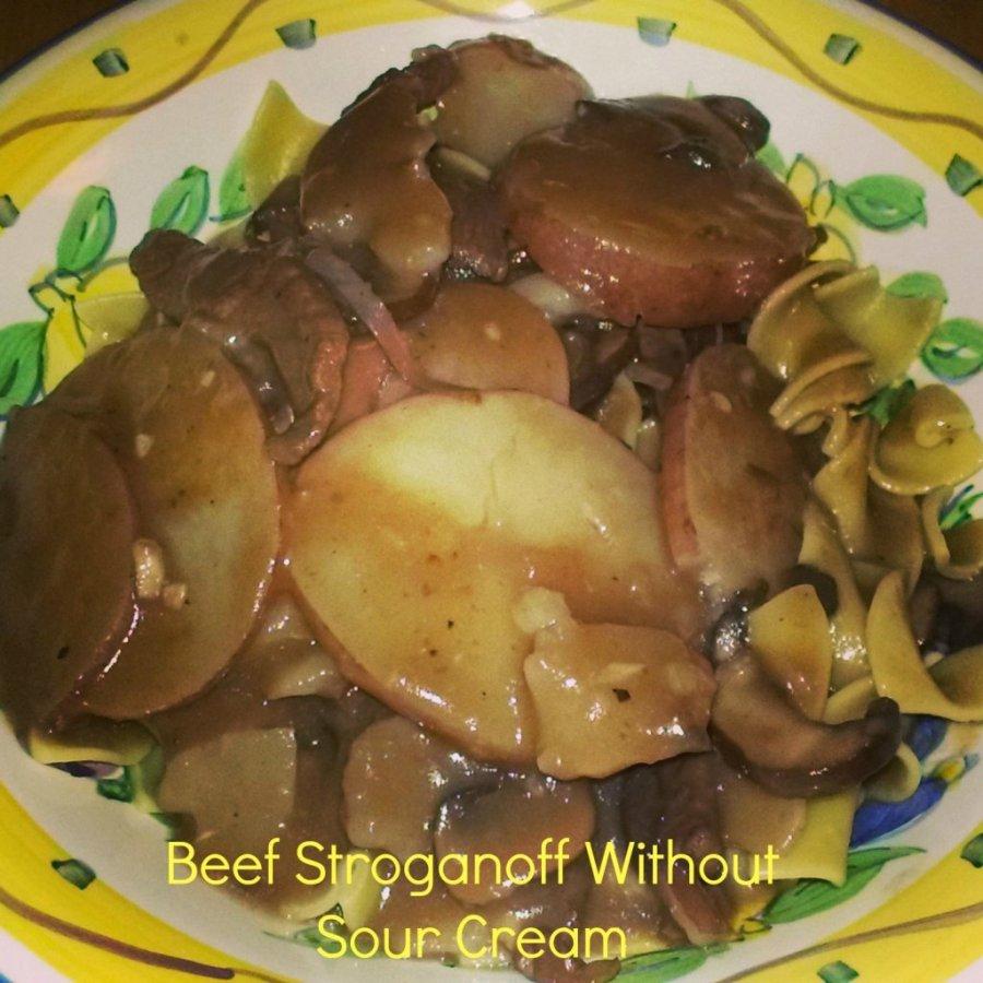 beef stroganoff without sour cream recipe