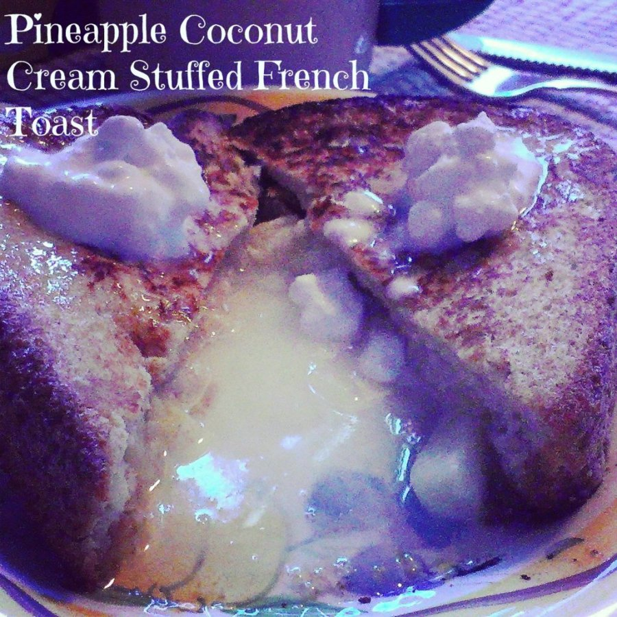 pineapple coconut cream stuffed french toast recipe