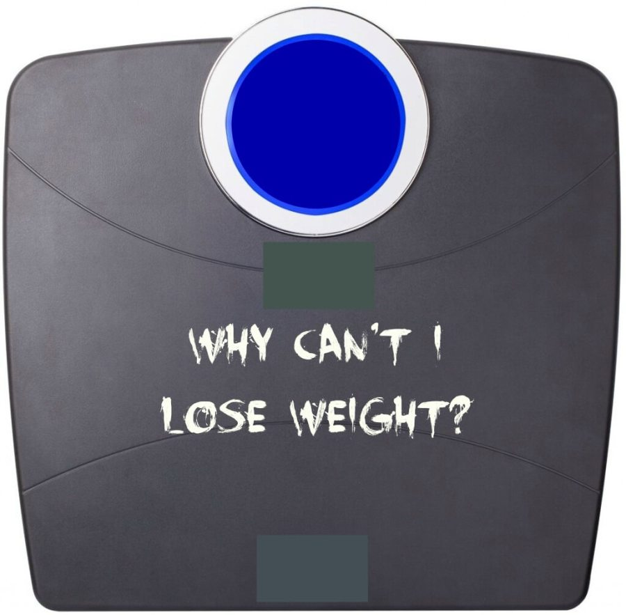 """photo of a scale with the title """"Why Can't I Lose Weight?"""""""