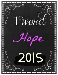 one word hope