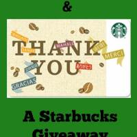 An Apology and a Starbucks Giveaway (ends 4/10)