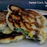 Sweet Corn, Spinach and Mushroom Pancakes