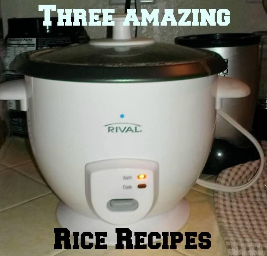 three rice recipes