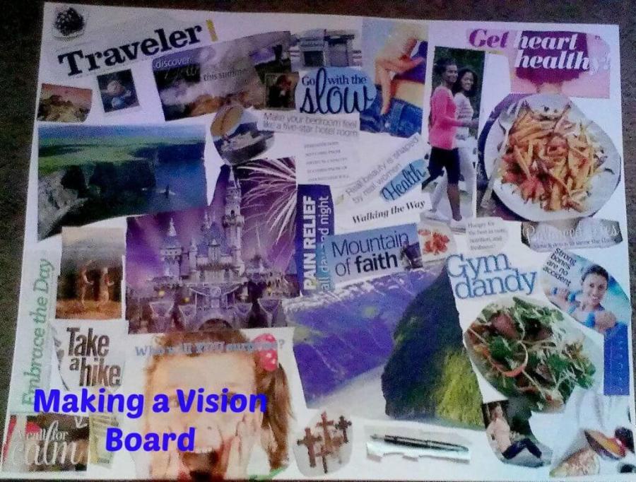 making a vision board