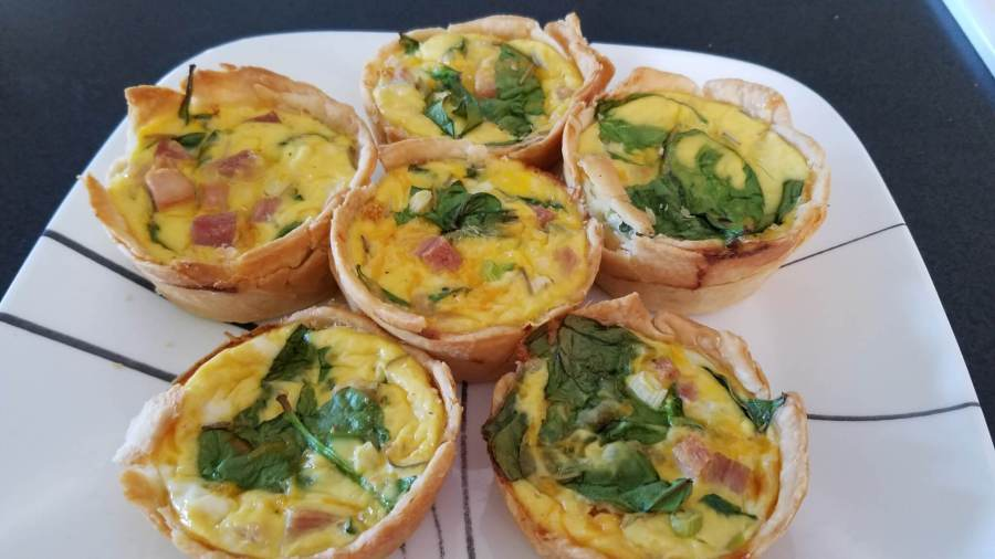 ham spinach mini quiches