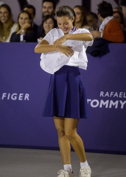 Rafael Nadal plays STRIP tennis with Tommy Hilfiger models ...